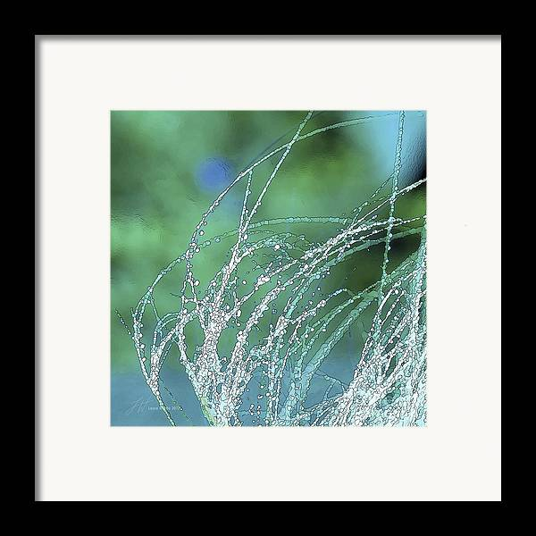 Grass Framed Print featuring the painting Spring Grass by Artist and Photographer Laura Wrede