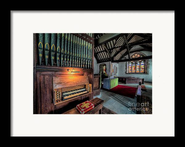 British Framed Print featuring the photograph St Digains Church by Adrian Evans