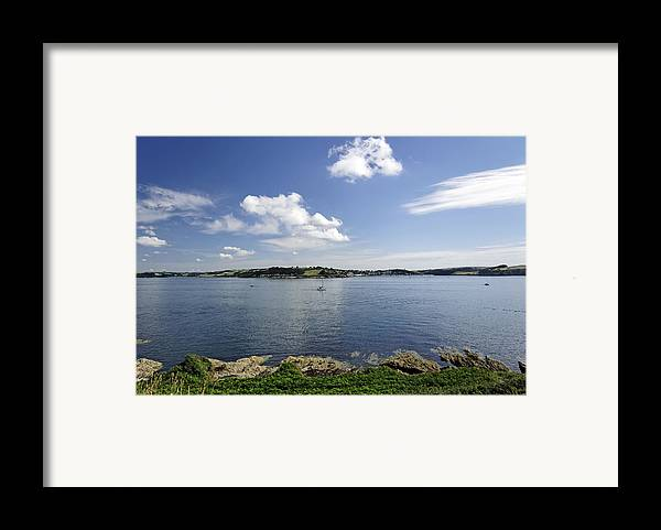 Britain Framed Print featuring the photograph St Mawes From Pendennis Point by Rod Johnson