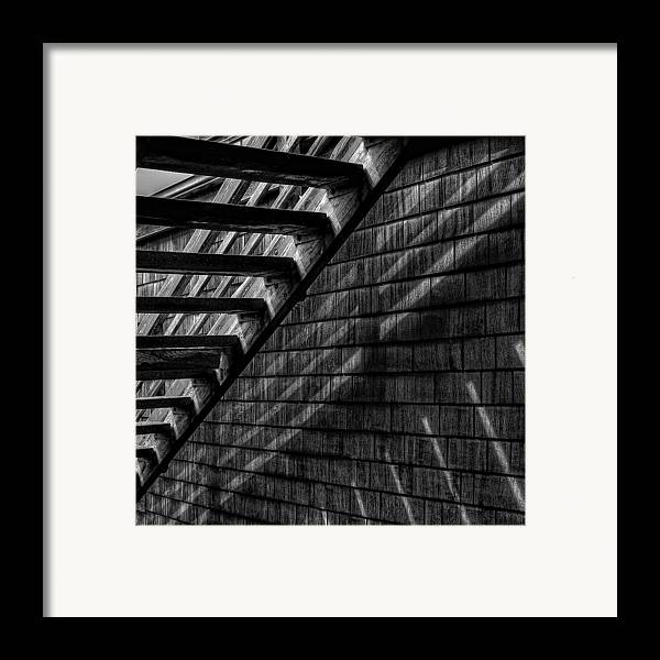 Black And White Framed Print featuring the photograph Stairs by David Patterson