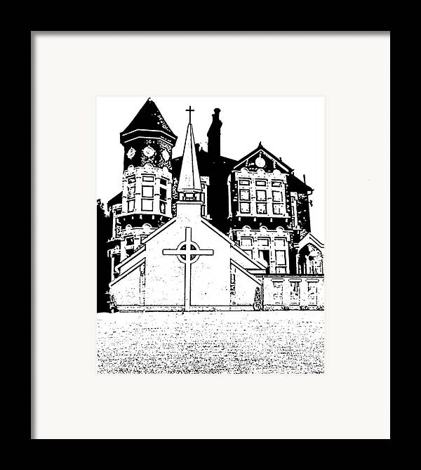Framed Print featuring the digital art Stamps by Vicky Hutton