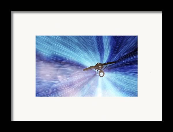 Star Trek Framed Print featuring the photograph Star Trek - Warp Speed Mr. Scott by Jason Politte