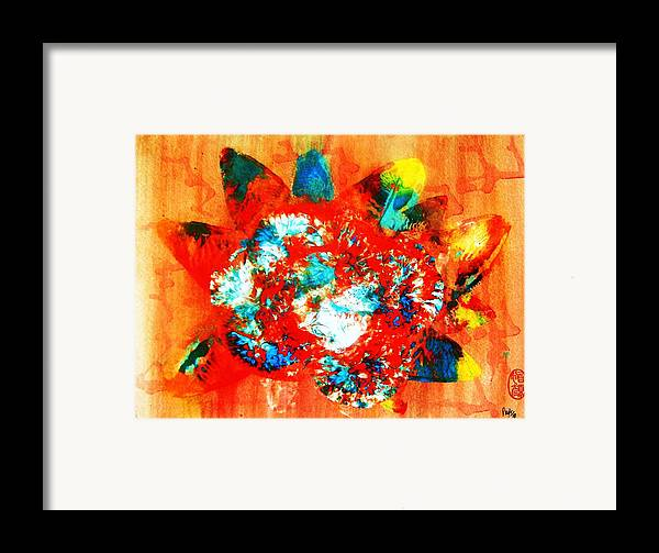 Abstract Framed Print featuring the painting Starburst Nebula by Roberto Prusso