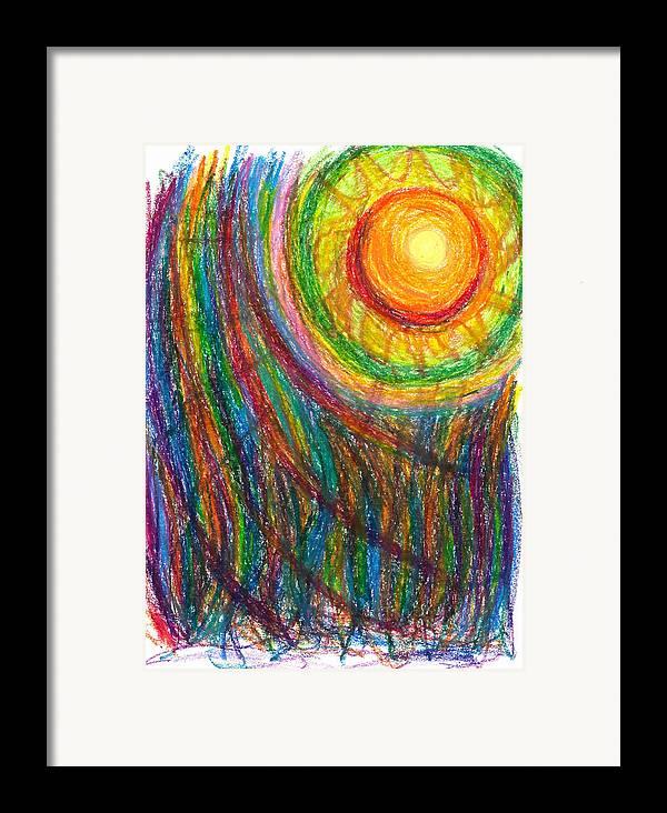 Oil Framed Print featuring the drawing Starburst - The Nebular Dawning Of A New Myth And A New Age by Daina White