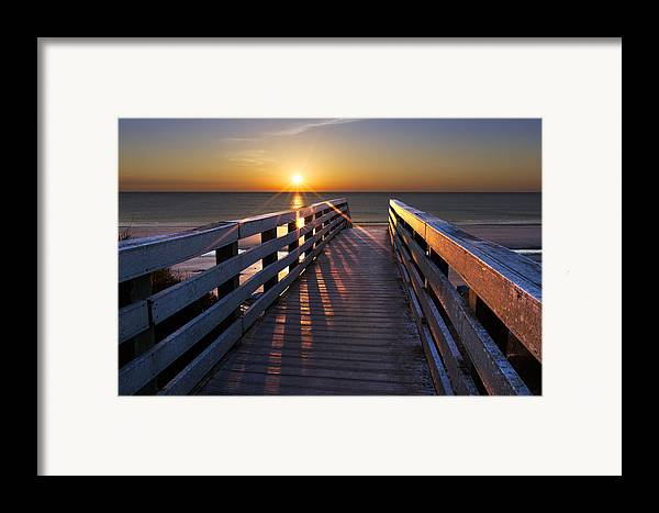 Clouds Framed Print featuring the photograph Stars On The Boardwalk by Debra and Dave Vanderlaan