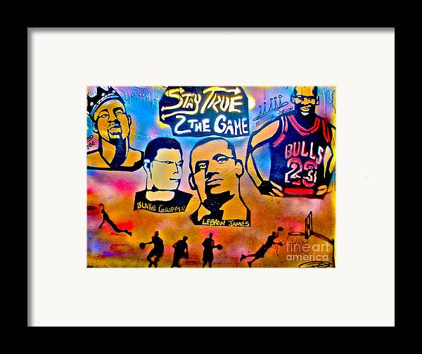 Kobe Bryant Framed Print featuring the painting Stay True 2 The Game No 1 by Tony B Conscious