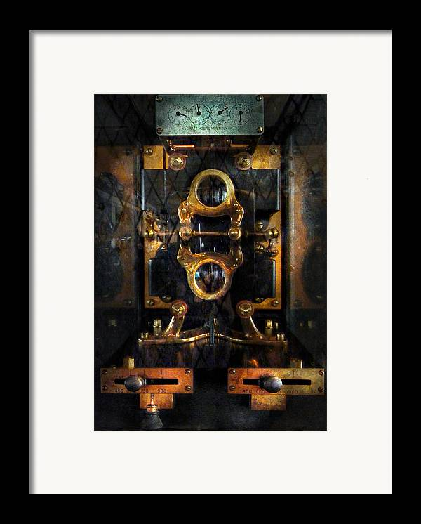 Hdr Framed Print featuring the photograph Steampunk - Electrical - The Power Meter by Mike Savad
