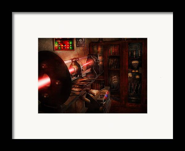 Cyberpunk Framed Print featuring the photograph Steampunk - Photonic Experimentation by Mike Savad