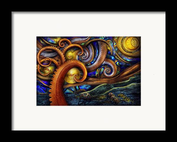 Savad Framed Print featuring the photograph Steampunk - Starry Night by Mike Savad