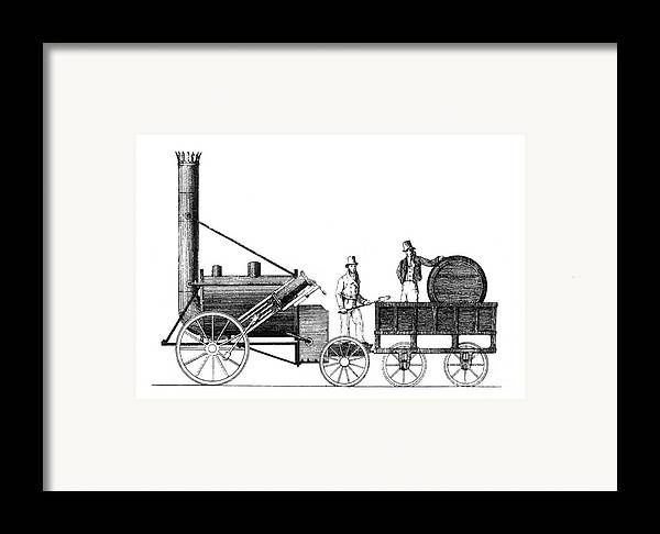 Science Framed Print featuring the photograph Stephensons Rocket 1829 by Science Source