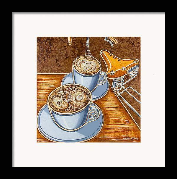 Still Life Framed Print featuring the painting Still Life With Bicycle by Mark Howard Jones