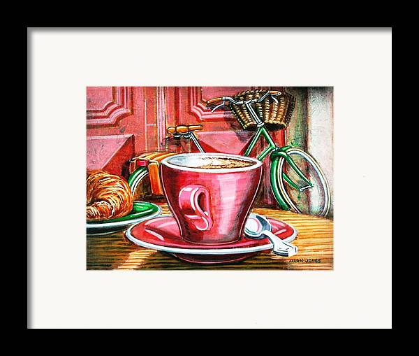Still Life Framed Print featuring the painting Still Life With Green Dutch Bike by Mark Howard Jones