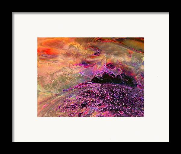 Absract Framed Print featuring the photograph Stirrings In The Sea by Shirley Sirois