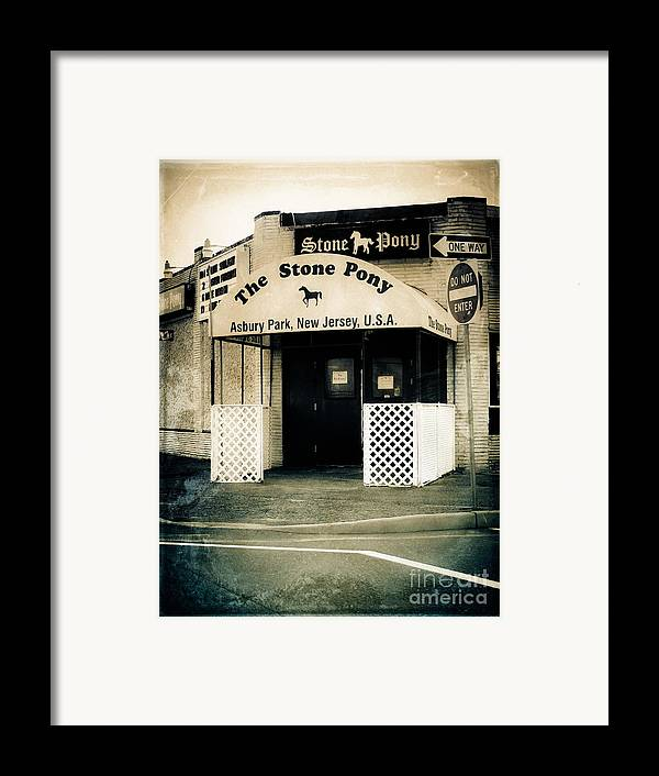 The Stone Pony Framed Print featuring the photograph Stone Pony by Colleen Kammerer
