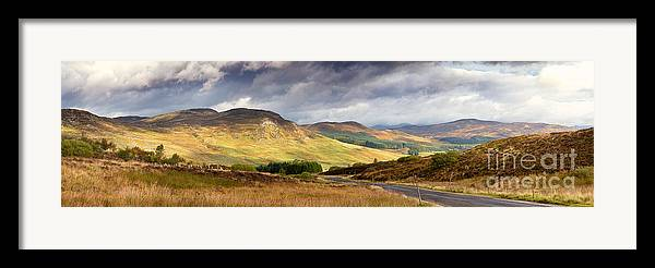 Road Framed Print featuring the photograph Storm Clouds Over The Glen by Jane Rix