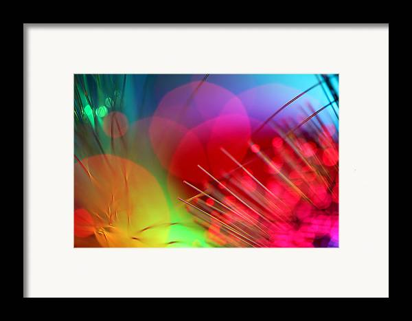 Abstract Framed Print featuring the photograph Strange Days by Dazzle Zazz