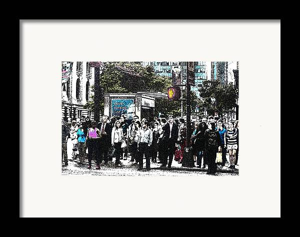 Nyc Framed Print featuring the digital art Streets Of New York City 17 by Mario Perez