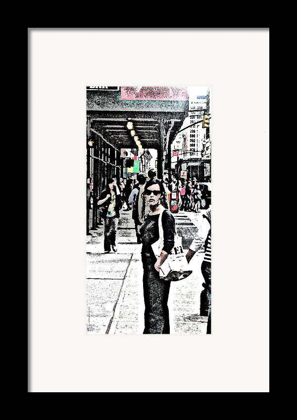 Nyc Framed Print featuring the photograph Streets Of Nyc 19 by Mario Perez