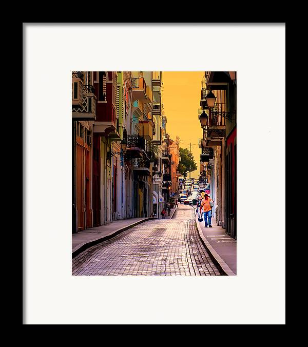 San Juan Framed Print featuring the photograph Streets Of San Juan by Karen Wiles