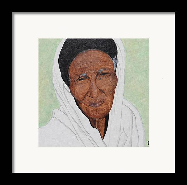 Ethiopia Framed Print featuring the painting Strength by Kurler Warner