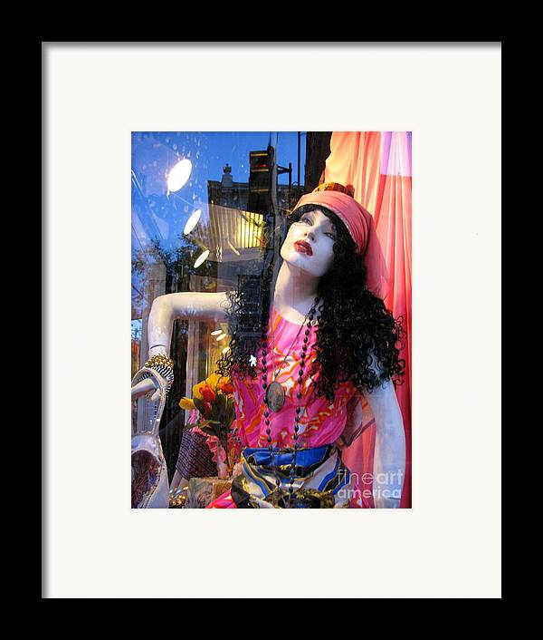 Mannequin Framed Print featuring the photograph Strike A Pose by Colleen Kammerer