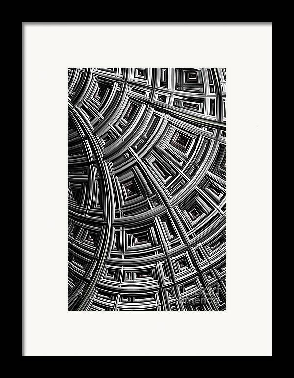 Mesh Framed Print featuring the digital art Structure by John Edwards
