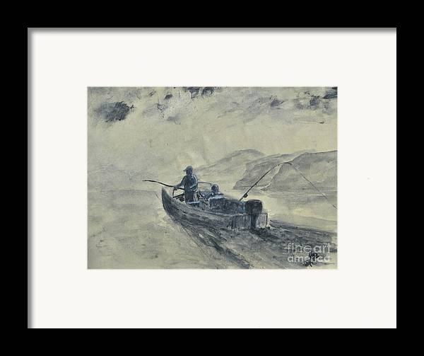 Outdoors Framed Print featuring the painting Study For Early Morning Blue Mesa by Dana Carroll