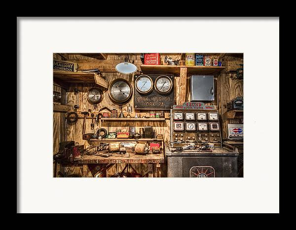 Quaker Framed Print featuring the photograph Sun Motor Tester by Debra and Dave Vanderlaan