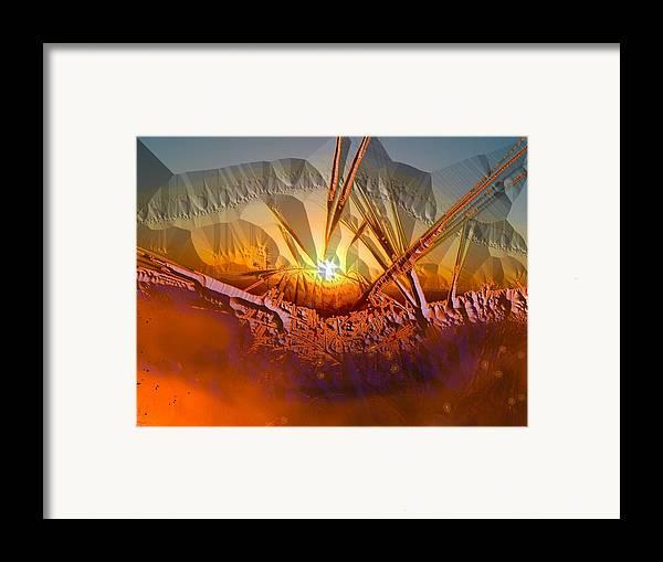 Abstract Framed Print featuring the photograph Sun Set by Vagik Iskandar