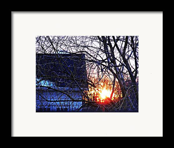 Sunrise Next Door Framed Print featuring the photograph Sunrise Next Door by Sarah Loft