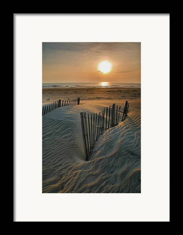 Outer Banks Prints Framed Print featuring the photograph Sunrise Over Hatteras by Steven Ainsworth