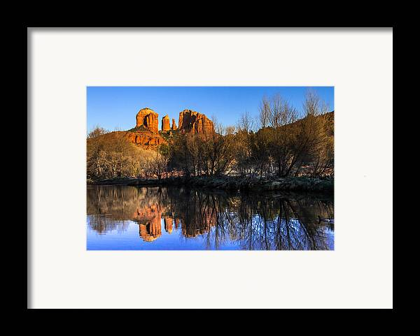 Arizona Framed Print featuring the photograph Sunset At Red Rocks Crossing In Sedona Az by Teri Virbickis