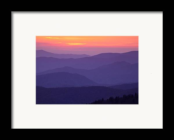 Smokies Framed Print featuring the photograph Sunset From Atop The Smokies by Andrew Soundarajan