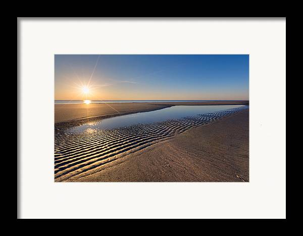 Clouds Framed Print featuring the photograph Sunshine On The Beach by Debra and Dave Vanderlaan