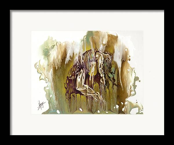 Surrender Framed Print featuring the painting Surrender by Karina Llergo