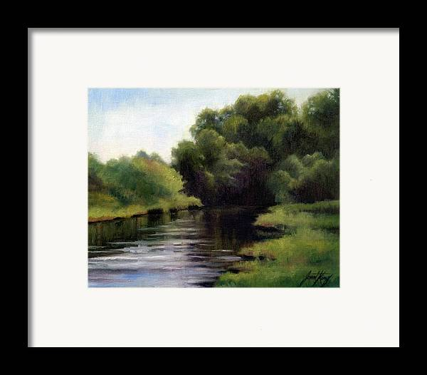 Swan Creek In Hickman County Framed Print featuring the painting Swan Creek by Janet King