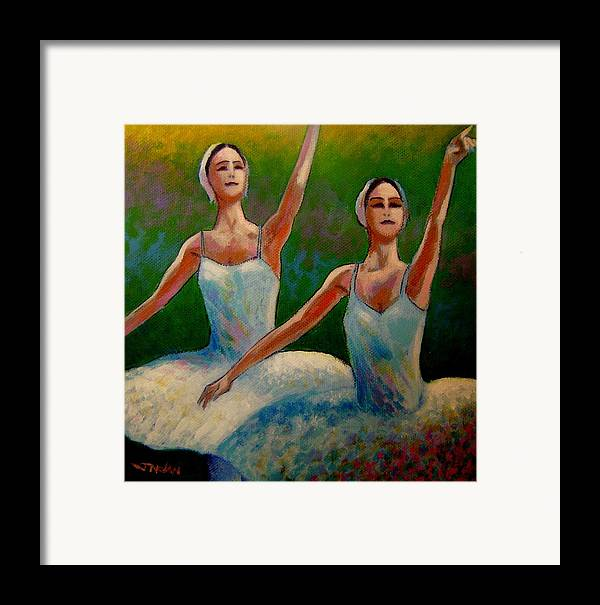 Ballet Framed Print featuring the painting Swan Lake II by John Nolan