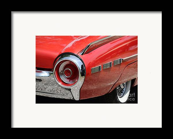 1963 Ford Thunderbird Framed Print featuring the photograph T-bird Tail by Dennis Hedberg