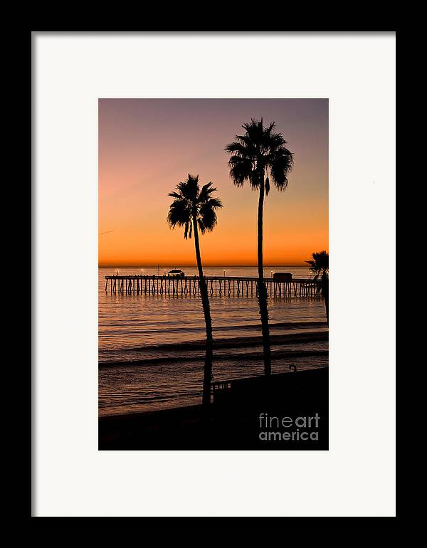 Seaweed Framed Print featuring the photograph T Street Pier San Clemente California From The Book My Ocean by Artist and Photographer Laura Wrede