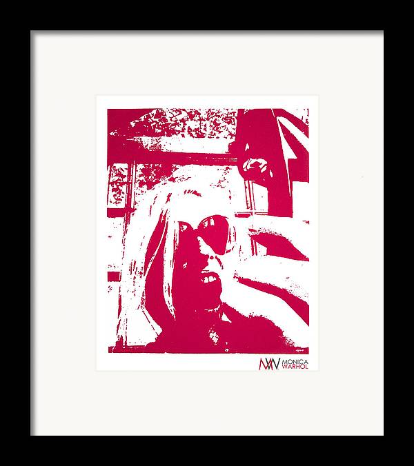 Monica Warhol Framed Print featuring the painting Ta Ta Telephone by Monica Warhol