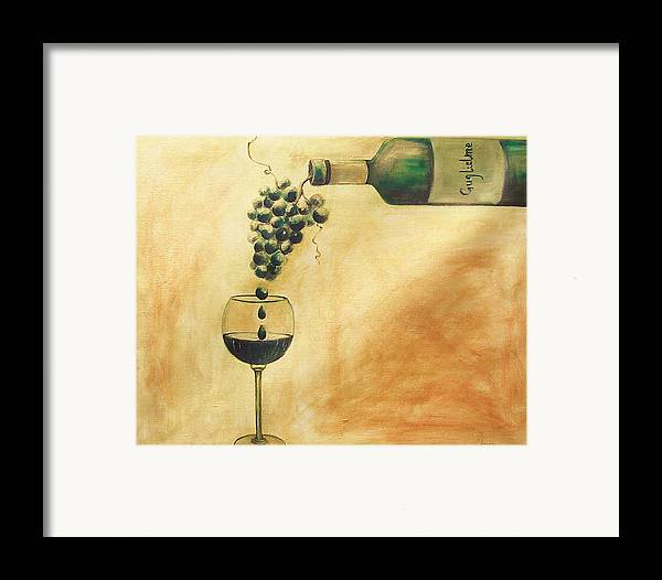 Wine Framed Print featuring the painting Taste Of Life by Sheri Chakamian