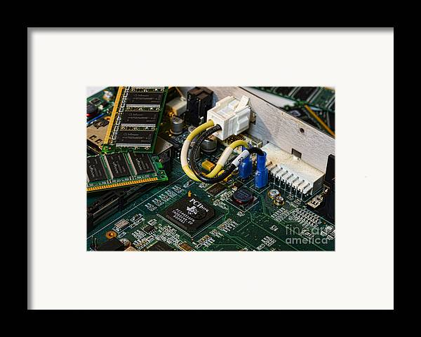 Board Framed Print featuring the photograph Technology - The Motherboard by Paul Ward