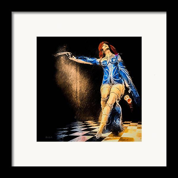 Dance With The Devil Framed Print featuring the painting Temptation by Bob Orsillo