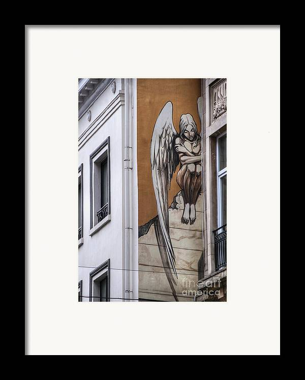 Architectural Feature Framed Print featuring the photograph The Angel by Juli Scalzi
