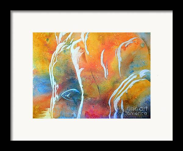 Watercolor Framed Print featuring the painting The Aurora by Robert Hooper