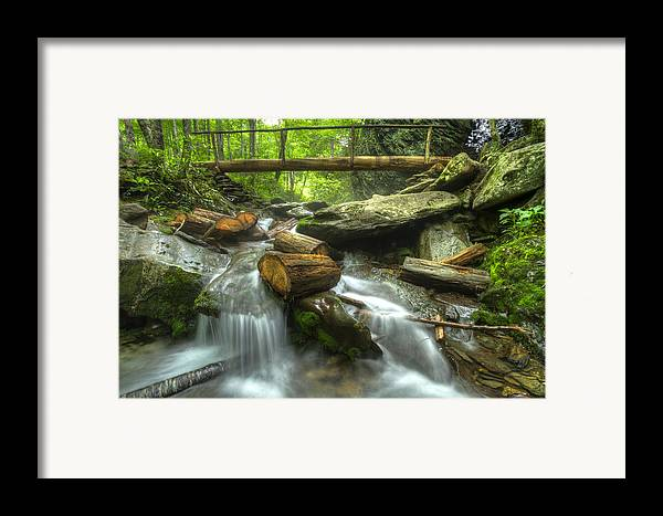 Appalachia Framed Print featuring the photograph The Bridge At Alum Cave by Debra and Dave Vanderlaan