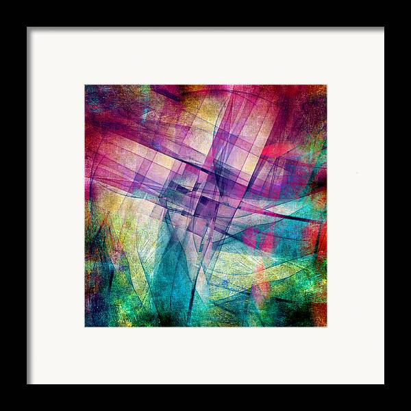 Buildings Block Framed Print featuring the digital art The Building Blocks by Angelina Vick