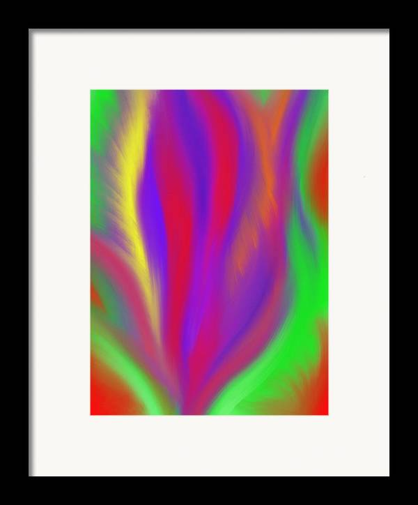 Vibrant Framed Print featuring the painting The Colors' Creation by Daina White