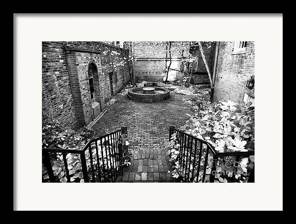 The Courtyard At The Old North Church Framed Print featuring the photograph The Courtyard At The Old North Church by John Rizzuto