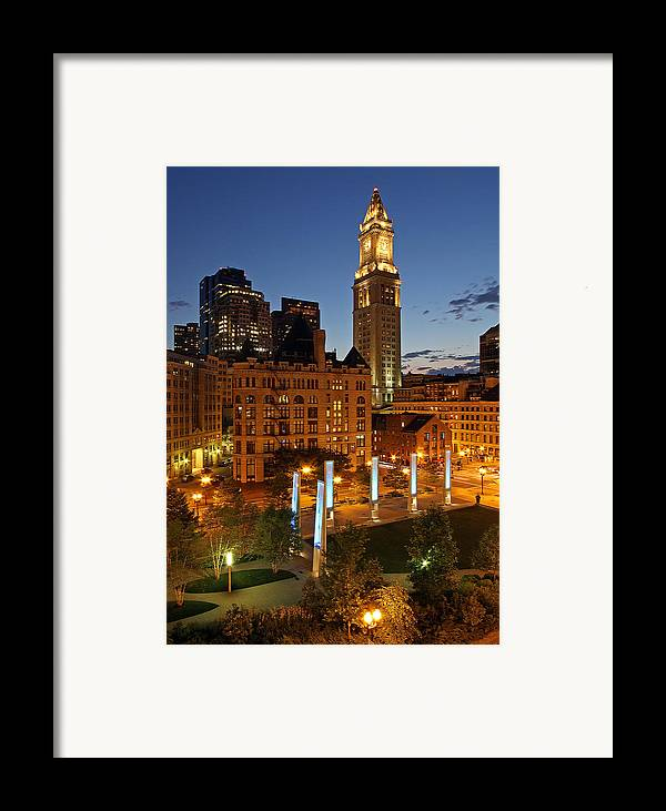 Boston Framed Print featuring the photograph The Custom House Of Boston by Juergen Roth